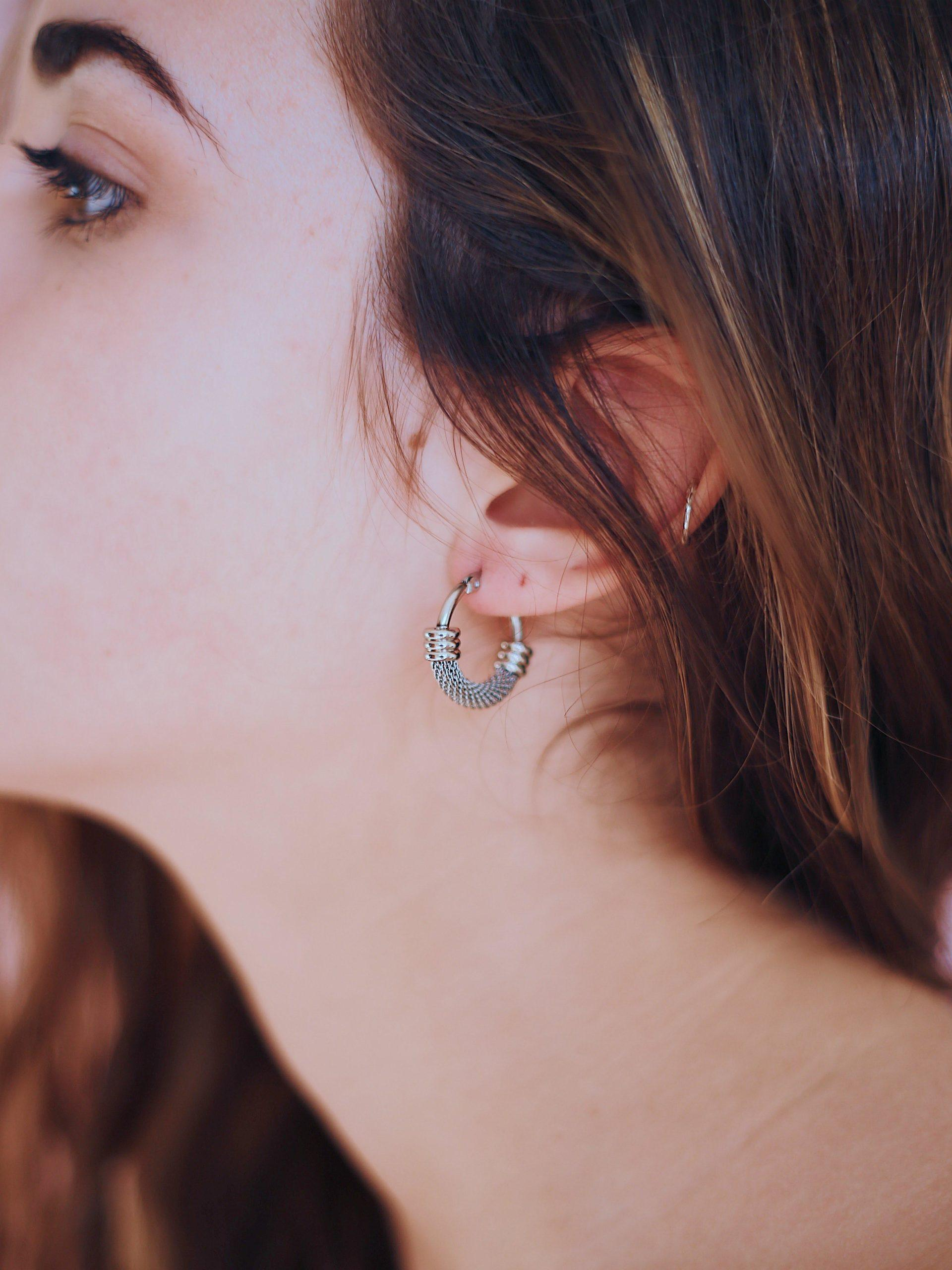 Rock On Hoop Earrings