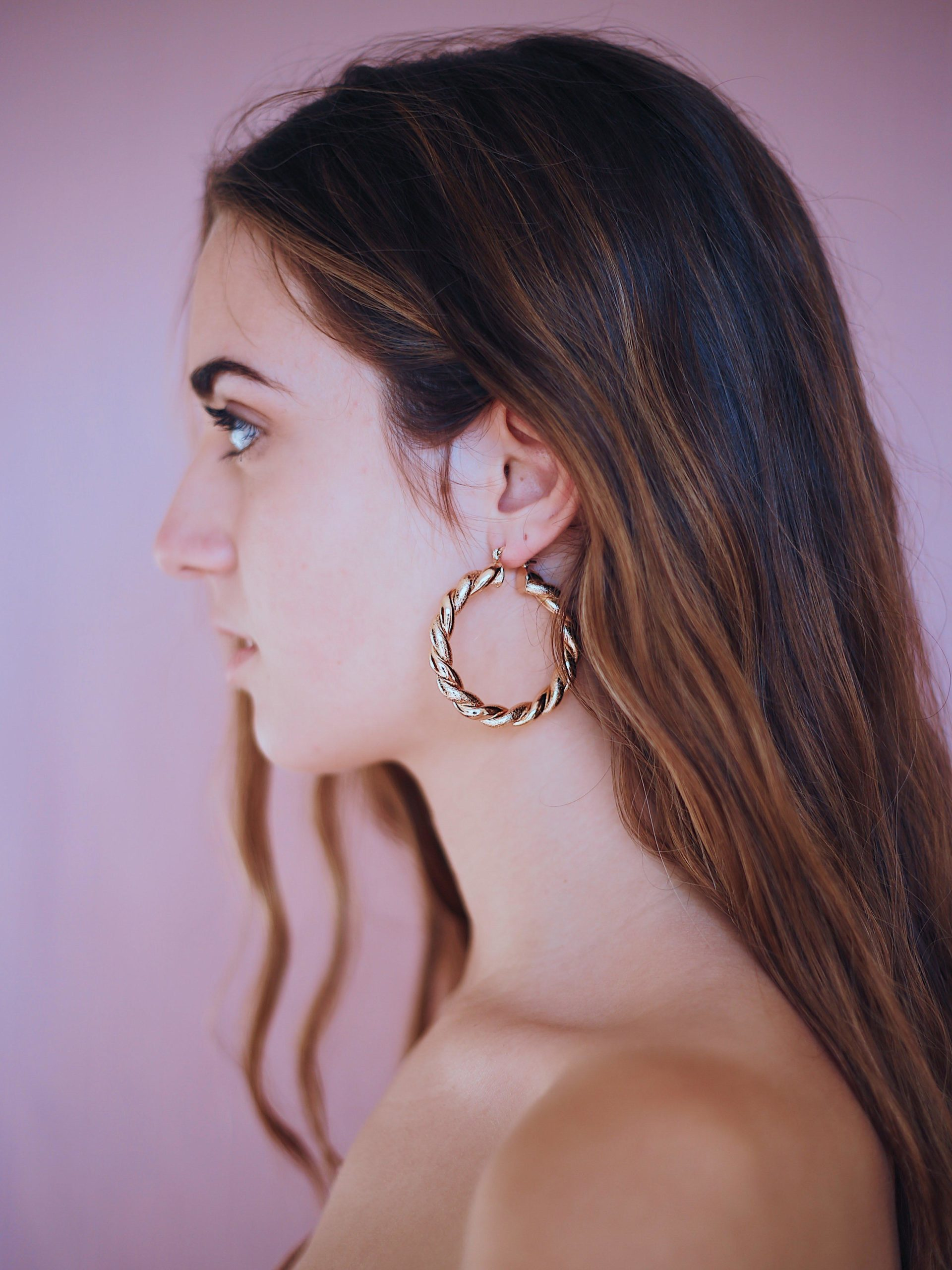 Big Charmed Hoop Earrings